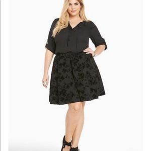 Torrid Jacquard Pleated Skirt With Pockets 2X